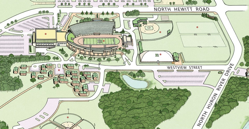 Directions To Emu Athletic Facilities Eastern Michigan