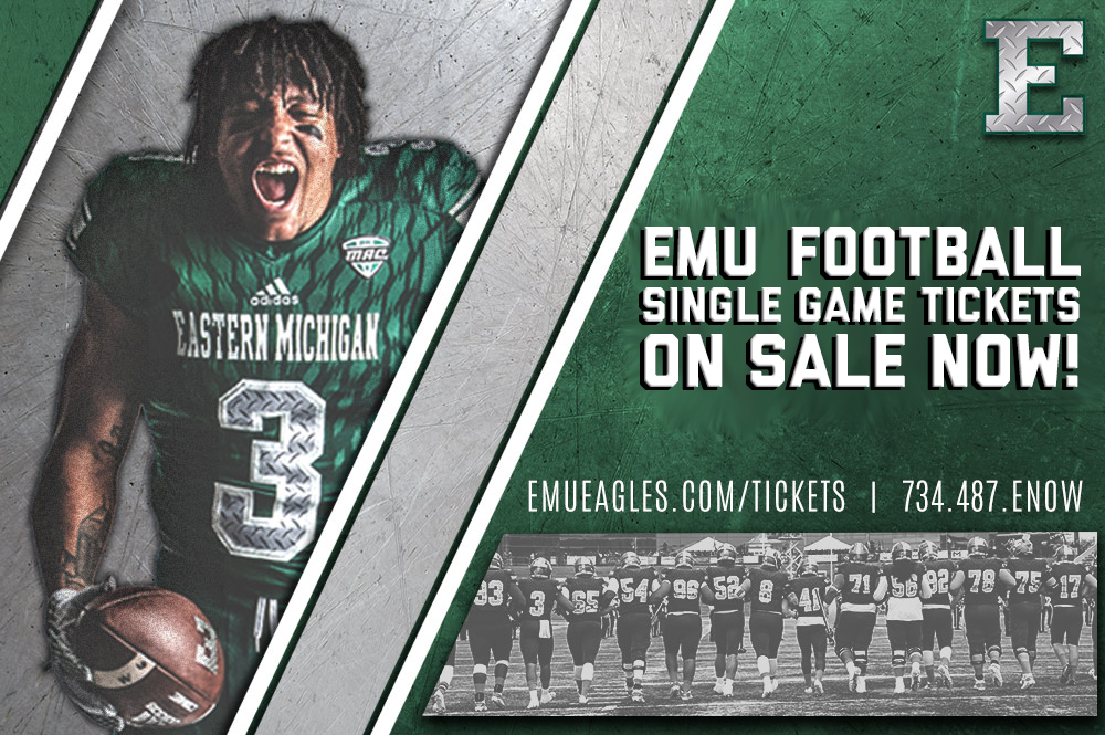 EMU Football Single Game Tickets Now On Sale - Eastern