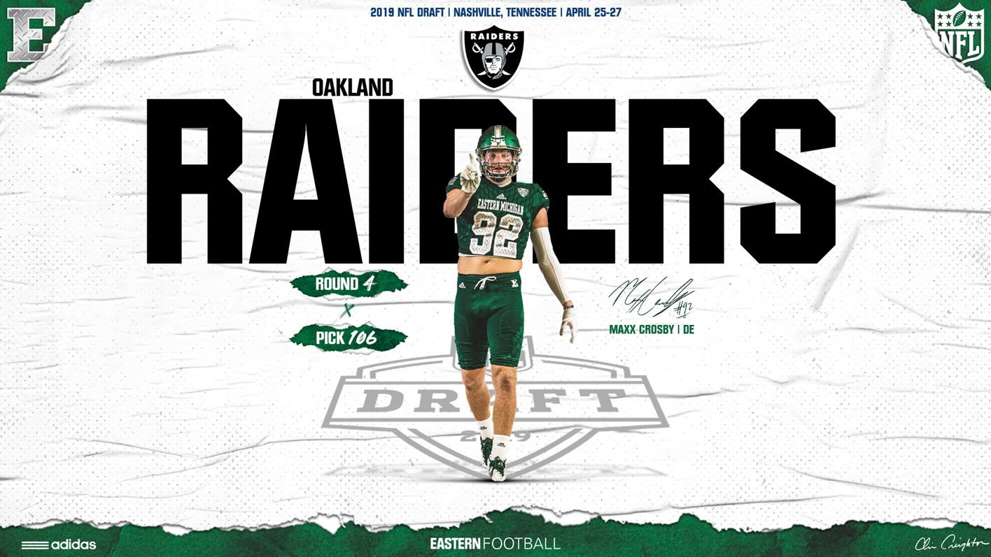 83d7167e Maxx Crosby Selected by the Raiders in the 2019 NFL Draft - Eastern ...