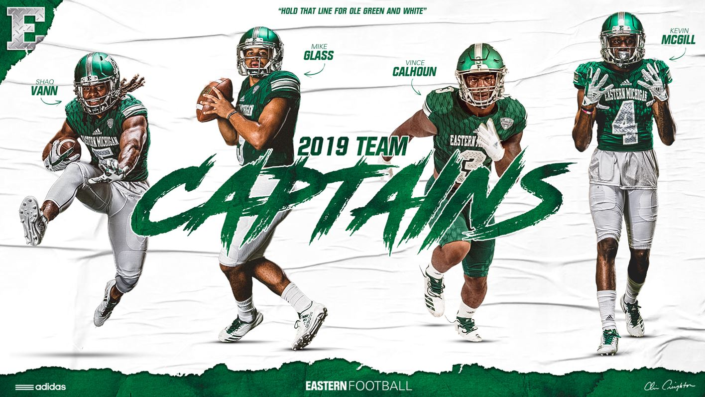 cheaper d1d79 aa999 EMU Football Names 2019 Team Captains - Eastern Michigan ...